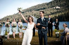 "Beautiful outside wedding in Truckee! ""Truckee wedding photography at #donnerlake © www.tahoeweddingphotojournalism.com"""