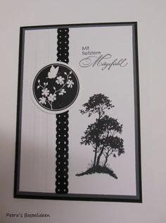 Trauer & Beileid - Trauerkarte - ein Designerstück von Petras-Bastelideen bei DaWanda