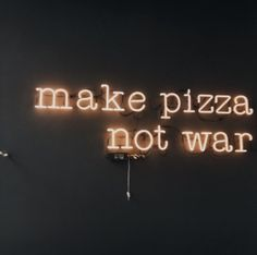 aesthetic, neon, and pizza image