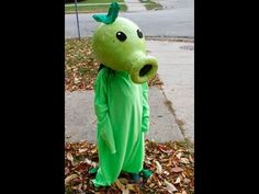 HOW TO make a peashooter costume PLANTS VS ZOMBIES!! tutorial - YouTube