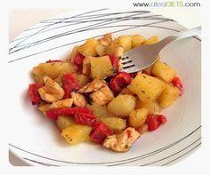 Patatas con pimientos y pollo - La dieta ALEA - blog de nutrición y dietética, trucos para adelgazar, recetas para adelgazar