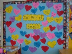 Our Acts of Kindness-the acts of kindness chain could be the brainstorming of ideas and the bulletin board the accountability piece for after a period to enact the ideas.