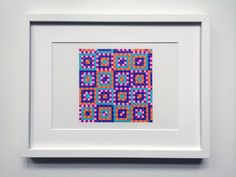 Dessin pixelisé - Motif, couleur, carré - 24 x 32 cm - #leaburrot #pattern #colors #squares #collection #marker #tria #drawing #optic #opart #berlin #artinberlin