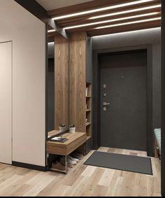 Apartment Entrance, Home Entrance Decor, House Entrance, Home Room Design, Interior Design Living Room, Interior Decorating, House Design, Wardrobe Door Designs, Japanese Home Decor