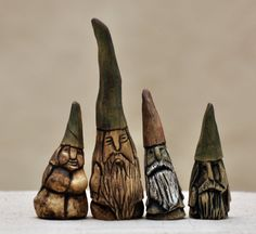 MadetoOrder OOAK Ceramic Garden Gnomes by TheLudicSpiral on Etsy, $25.00