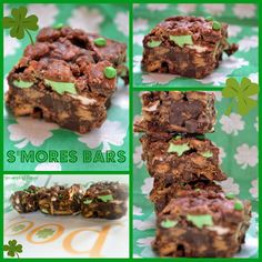 S'mores Bars~St.Patty's Style