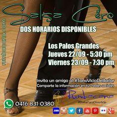 Aprende a Bailar #Salsa desde cero  Dos talleres disponibles para tí en Los Palos Grandes: - Jueves 22/09 - 5:30 pm - Viernes 23/09 7:30 pm  Invita un amigo al #SanoVicioDeBailar  #Rumbacana #BailaParaDivertirte