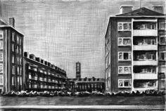 Marcel Van Eeden, name: unknown date: 2004, dimension: 19 x 28 cm, (medium): black pencil on paper