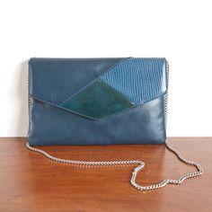 1980s 'Blue Trio' leather purse