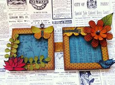 Crafty Thoughts: Frames a la Wendy  http://gabrielle-price.blogspot.co.uk/2012/04/frames-la-wendy.html