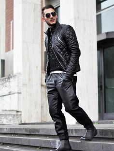 LEATHER di yourmirror su STYLIGHT http://www.yourmirrorstyle.com/2014/01/leather-look.html