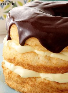 Boston Cream Pie Made Over #recipe