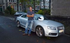 Top Gear's Stig drives an Audi S5! Great Taste, I always knew the stig had a brain.