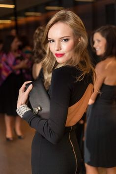 red lips, open back | Kate Bosworth