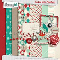 Rockin' Retro Christmas #scrapbook #digiscrap