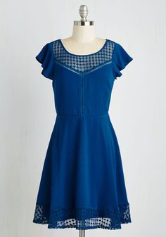 Foyer Eyes Only Dress. Though all can see the beauty of your entryway, only you experience it feeling charmed in this midnight blue dress! #blue #modcloth