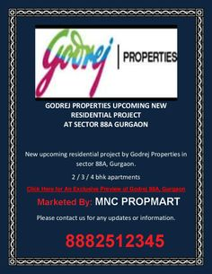 """Find  Godrej New Project New Residential Projects, Godrej New Project Builders New Residential Properties in Gurgaon, New Launches of Godrej New Project in Gurgaon and Godrej New Project Builders Upcoming Residential Projects 