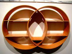 KNCS Classics // DECO: Natural, Wooden Shelf, Round Shelf, Reclaimed Wood, Home Decor, Circular Shelf, Shelving, Round Hanging Shelf