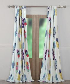 Another great find on #zulily! Dream Catcher Curtain Panel Set #zulilyfinds