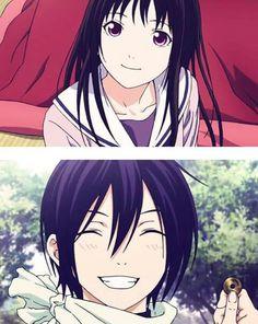 Yato and hiyori | I love his smile!