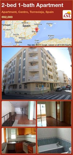 Apartment for Sale in Apartment, Centro, Torrevieja, Spain with 2 bedrooms, 1 bathroom - A Spanish Life Apartments For Sale, Valencia, Torrevieja Spain, Portugal, Beach Cove, Beautiful Living Rooms, Small Patio, Medical Center, Palmas