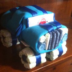 how to make a race car out of diapers