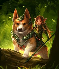 Corgis are the preferred method for moving fairies!