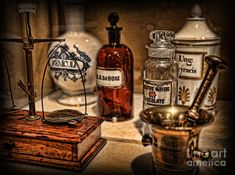 The Pharmacists Cupboard - The Pharmacist Photograph