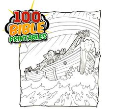 100 Bible Printables: Mazes, Coloring Sheets, Word Puzzles, Crosswords.  Great for home or Sunday School.
