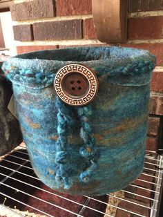 Wool felted vessel
