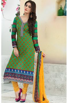 Designer party wear salwar kameez with matching bottom and dupatta.