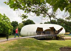 "Smiljan Radić's 2014 Serpentine Gallery Pavilion looks like a crude model ""made by a giant"" |  Photographed by Jim Stephenson"