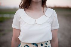 Love the simplicity of this white peter-pan top via teakamarie etsy shop.