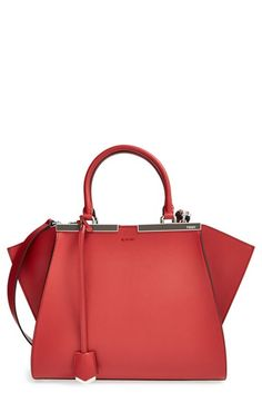 Free shipping and returns on Fendi 'Petit 3Jours' Leather Shopper at Nordstrom.com. A vivacious hue elevates a legendary Italian shopper rescaled to ladylike proportions. Sleek logo-engraved top bars and a dangling luggage tag provide signature Fendi finishing touches.