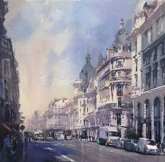 Urban Paintings Watercolor Artworks by artist Vladislav Yeliseyev   Vladislav…