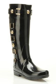 I want these, even though I bet my calves would bust clear out of them. Sigh. Regent Hurlingtonham Hunter Boots - Black