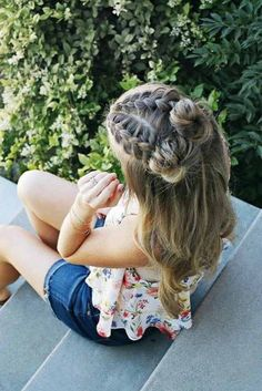 85 Box Braids Hairstyles for Black Women - Hairstyles Trends Box Braids Hairstyles, Cute Hairstyles, Hairstyle Ideas, Makeup Hairstyle, School Picture Hairstyles, Easy Beach Hairstyles, Cute Little Girl Hairstyles, Hairstyles 2018, Beautiful Hairstyles