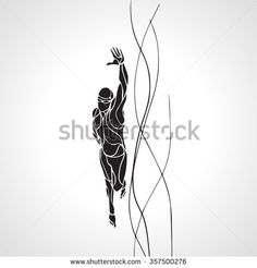 Image result for swimming figure silhouettes