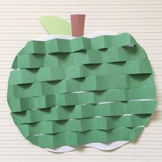 Little Family Fun: Zig Zag Green Apple Craft for Kids