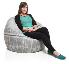 The Star Wars Death Star Bean Bag Chair Cover Isn't Fully Operational