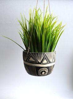 M O U N T A I N  S U N R I S E: ceramic hanging planter by mbundy