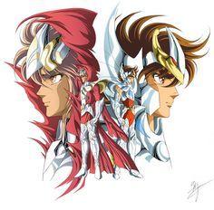 Two Legendary Pegasus Saints: Hipponoos and Seiya. artwork by Spaceweaver.