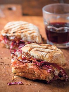 Proscuitto and Taleggio sandwich with fig preserves - Easy Italian Recipes From Extra Virgin Cookbook - Authentic Italian Recipes - Redbook