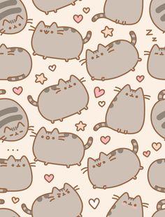 Pusheen Wallpapers Iphone, Wallpaper Iphone, Pusheen Phone Wallpaper, Wallpaper Zone, Wallpaper Anime, Summer Wallpaper, Kitty Wallpaper, Pusheen Background