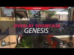 Twitch / hitbox Overlay Template - Genesis Showcase Overlays, Templates, Stencils, Vorlage, Models, Overlay