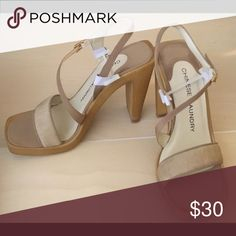 1HR SALE Camel Buckle Strappy Heels Liquidation Steal and now we are passing those savings to you. Enjoy! Shoes Heels