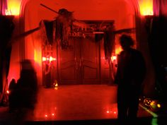 Entrance to a  Scary Party Decoration by @Fantasypartys