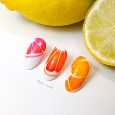 Fruit nail art ideas 🍊 Summer nail art ideas Fruit Nail Art, Nails Design, Summer Nails, Art Ideas, Instagram, Food, Summery Nails, Essen, Meals