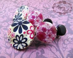 Violet Floral Multi Barrettes, 1 pair, purple hairclips, flower clips, Boho, Summer, ombre, stocking stuffer, gift for girls - reynared by ReynaRed on Etsy