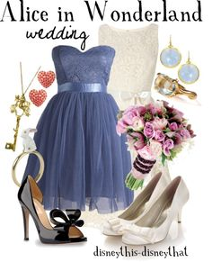 """Alice in Wonderland inspired """"wedding"""" outfit. I think this would be cute for a date night."""